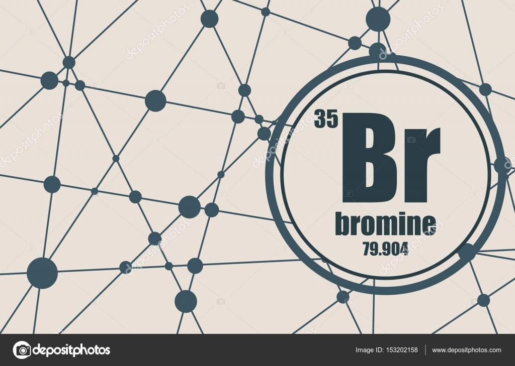 Elemento qumico bromo vector de stock jegasra 153202158 elemento qumico bromo firmar con el nmero atmico y peso atmico elemento qumico de tabla peridica molcula y el fondo de la comunicacin urtaz Images
