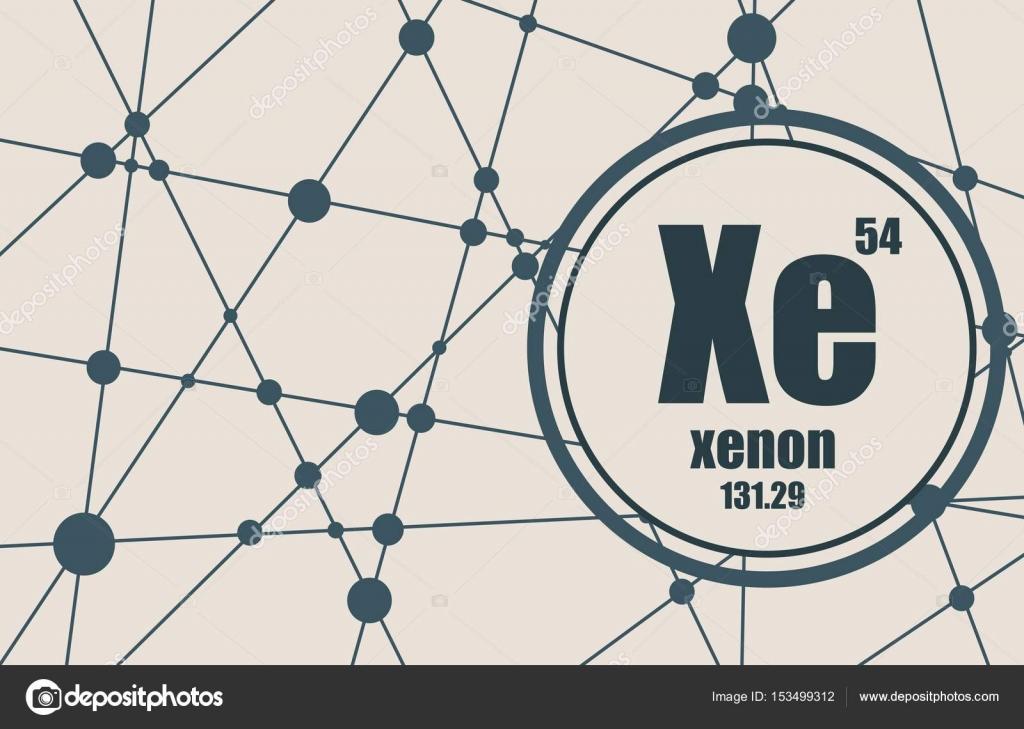 Elemento qumico del xenn vector de stock jegasra 153499312 elemento qumico del xenn firmar con el nmero atmico y peso atmico elemento qumico de tabla peridica molcula y el fondo de la comunicacin urtaz Image collections