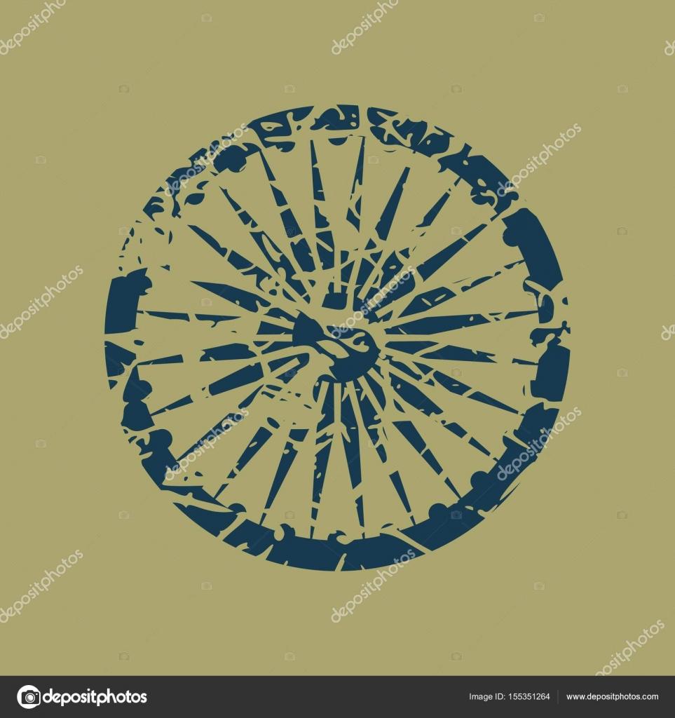 Ashoka Chakra Symbol Stock Vector Jegasra 155351264