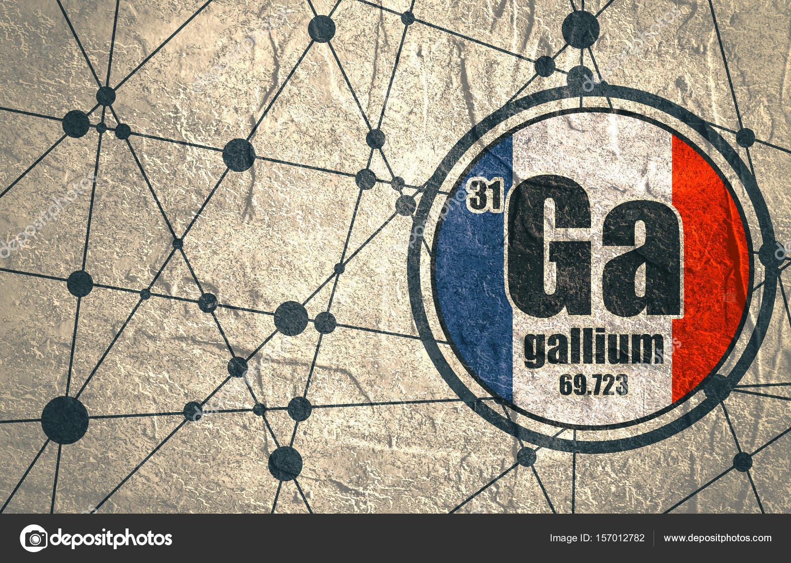 elemento qumico del galio firmar con el nmero atmico y peso atmico elemento qumico de tabla peridica lneas conectadas con los puntos - Tabla Periodica De Los Elementos Galio