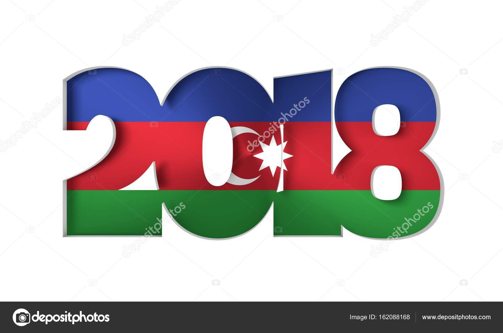 2018 happy new year background for seasonal flyers and greetings card or christmas themed invitations flag of the azerbaijan