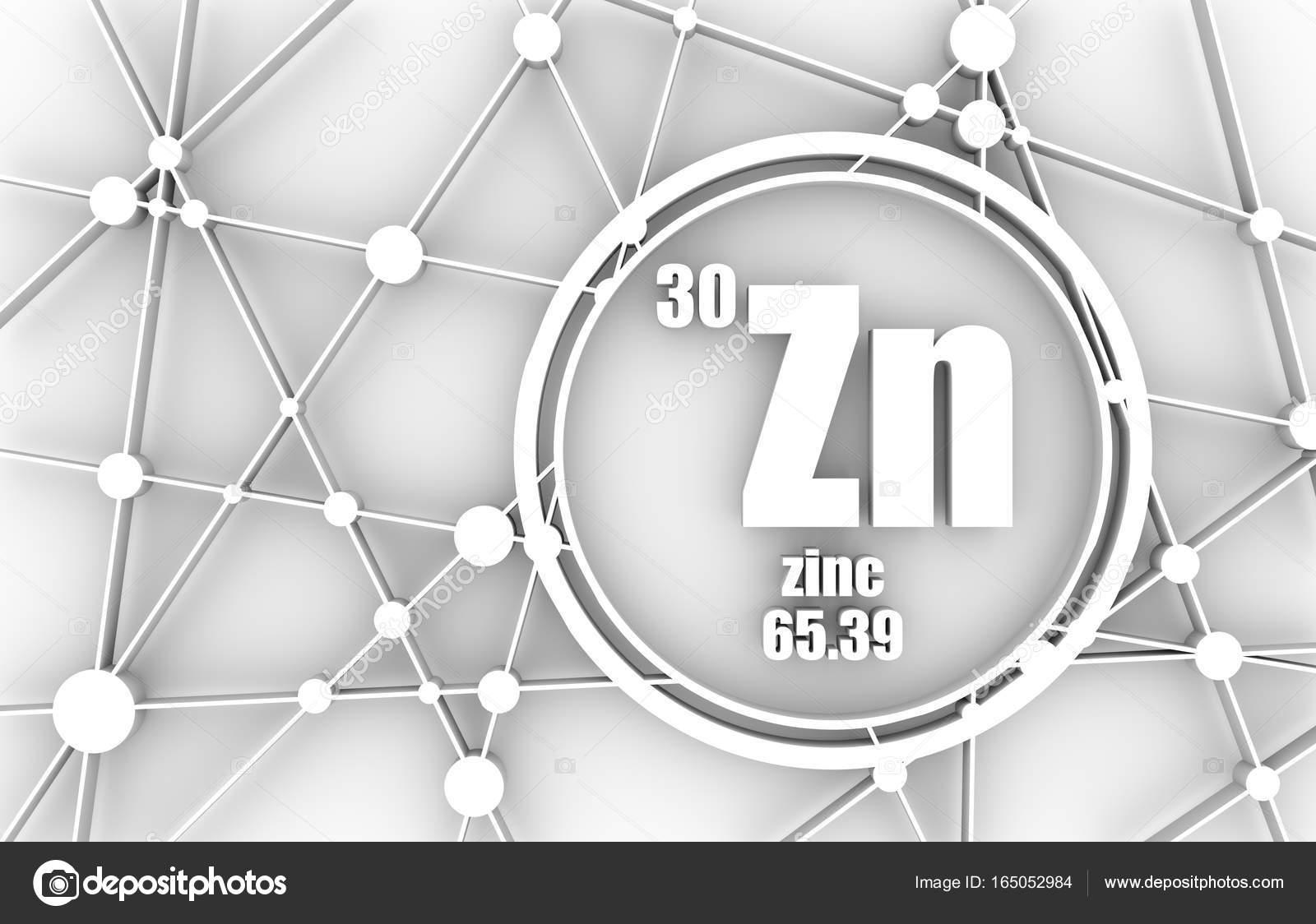 Elemento qumico del cinc foto de stock jegasra 165052984 elemento qumico del zinc firmar con el nmero atmico y peso atmico elemento qumico de tabla peridica molcula y el fondo de la comunicacin urtaz Images