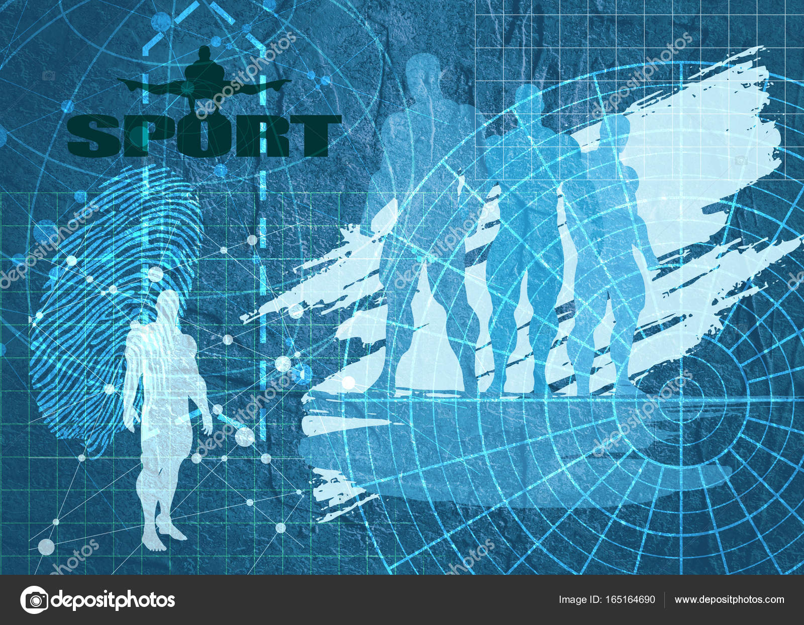 Technical blueprint background stock photo jegasra 165164690 old blueprint background texture technical backdrop paper silhouettes of three men on concrete textured backdrop bodybuilders posing on grunge brush malvernweather Images