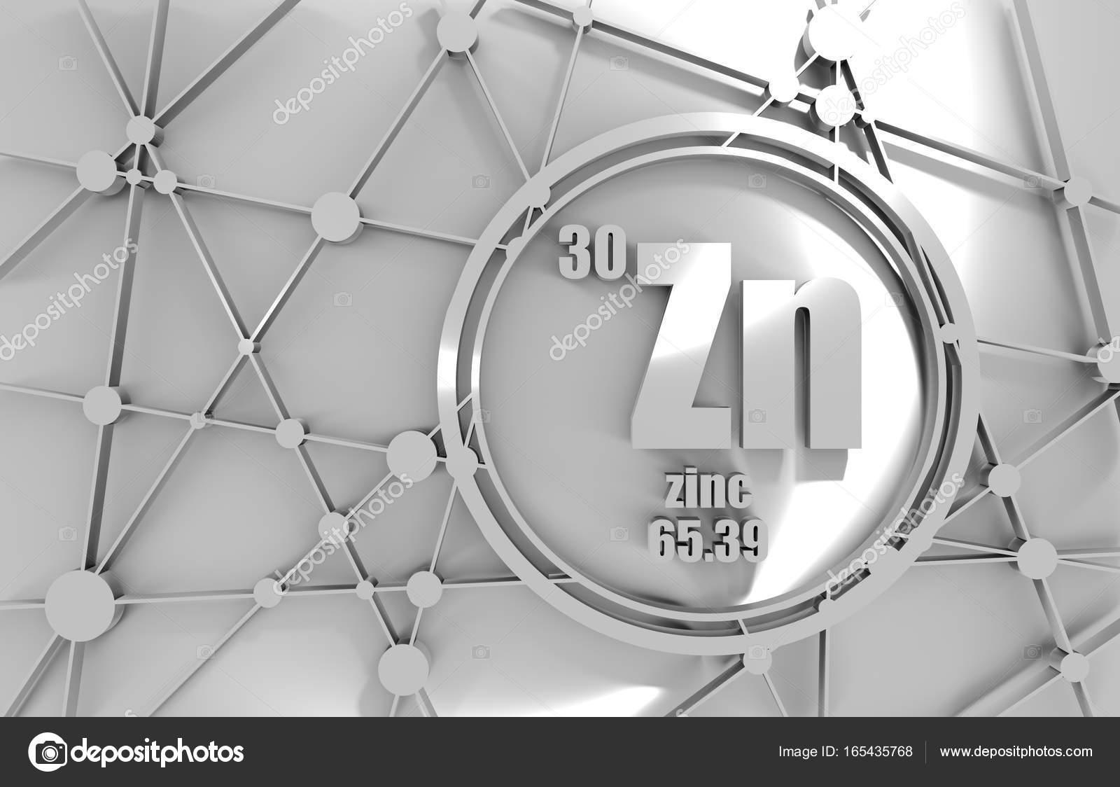 Elemento qumico del cinc foto de stock jegasra 165435768 elemento qumico del zinc firmar con el nmero atmico y peso atmico elemento qumico de tabla peridica molcula y el fondo de la comunicacin urtaz Images