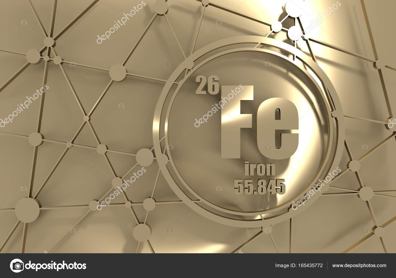 Elemento qumico hierro foto de stock jegasra 165435772 elemento qumico del hierro firmar con el nmero atmico y peso atmico elemento qumico de tabla peridica molcula y el fondo de la comunicacin urtaz Images
