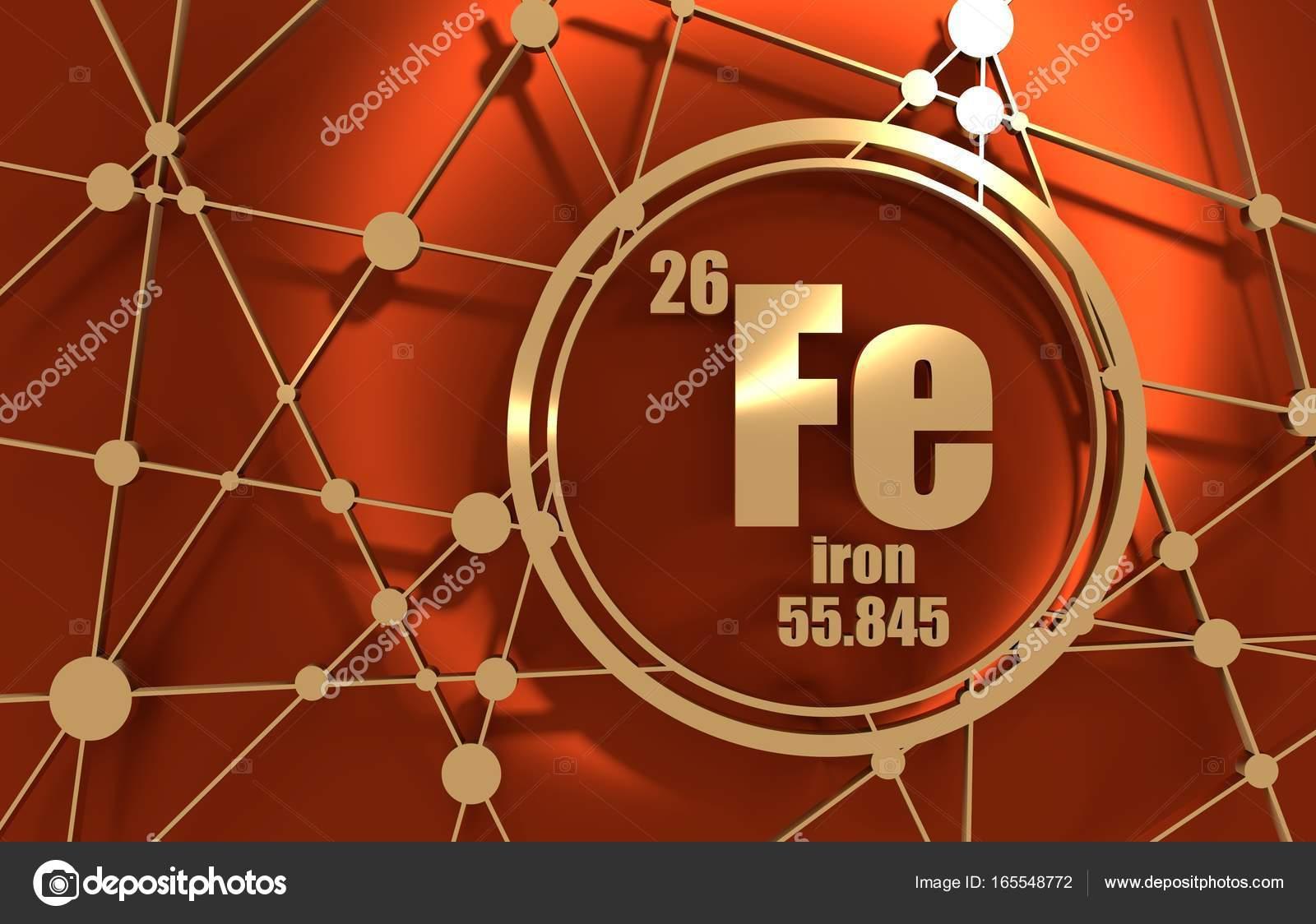 Elemento qumico hierro foto de stock jegasra 165548772 elemento qumico del hierro firmar con el nmero atmico y peso atmico elemento qumico de tabla peridica molcula y el fondo de la comunicacin urtaz Images