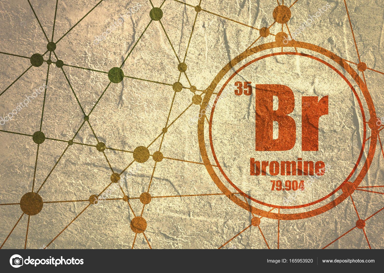 Elemento qumico bromo foto de stock jegasra 165953920 elemento qumico bromo firmar con el nmero atmico y peso atmico elemento qumico de tabla peridica molcula y el fondo de la comunicacin urtaz Choice Image