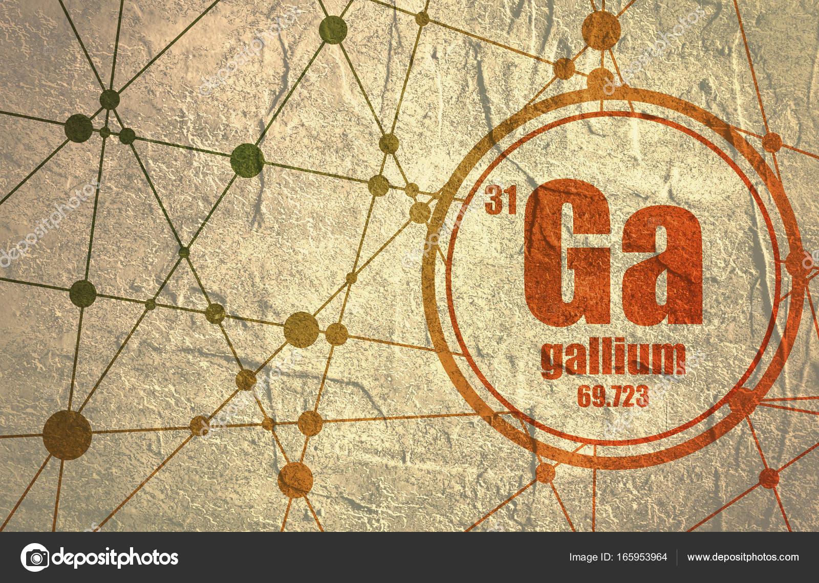 Elemento qumico galio fotos de stock jegasra 165953964 elemento qumico del galio firmar con el nmero atmico y peso atmico elemento qumico de tabla peridica molcula y el fondo de la comunicacin urtaz Choice Image