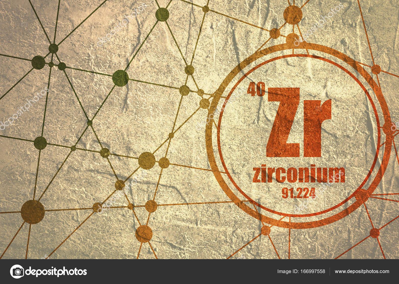 Elemento qumico de circonio foto de stock jegasra 166997558 elemento qumico de circonio firmar con el nmero atmico y peso atmico elemento qumico de tabla peridica molcula y el fondo de la comunicacin urtaz Choice Image