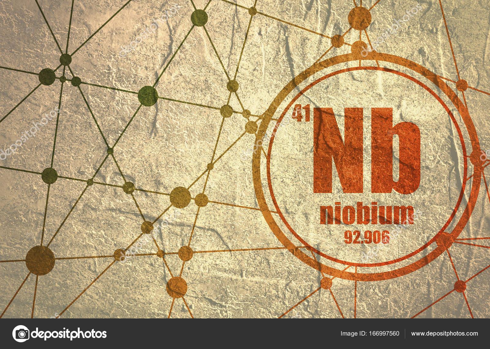 Niobium chemical element stock photo jegasra 166997560 niobium chemical element sign with atomic number and atomic weight chemical element of periodic table molecule and communication background biocorpaavc