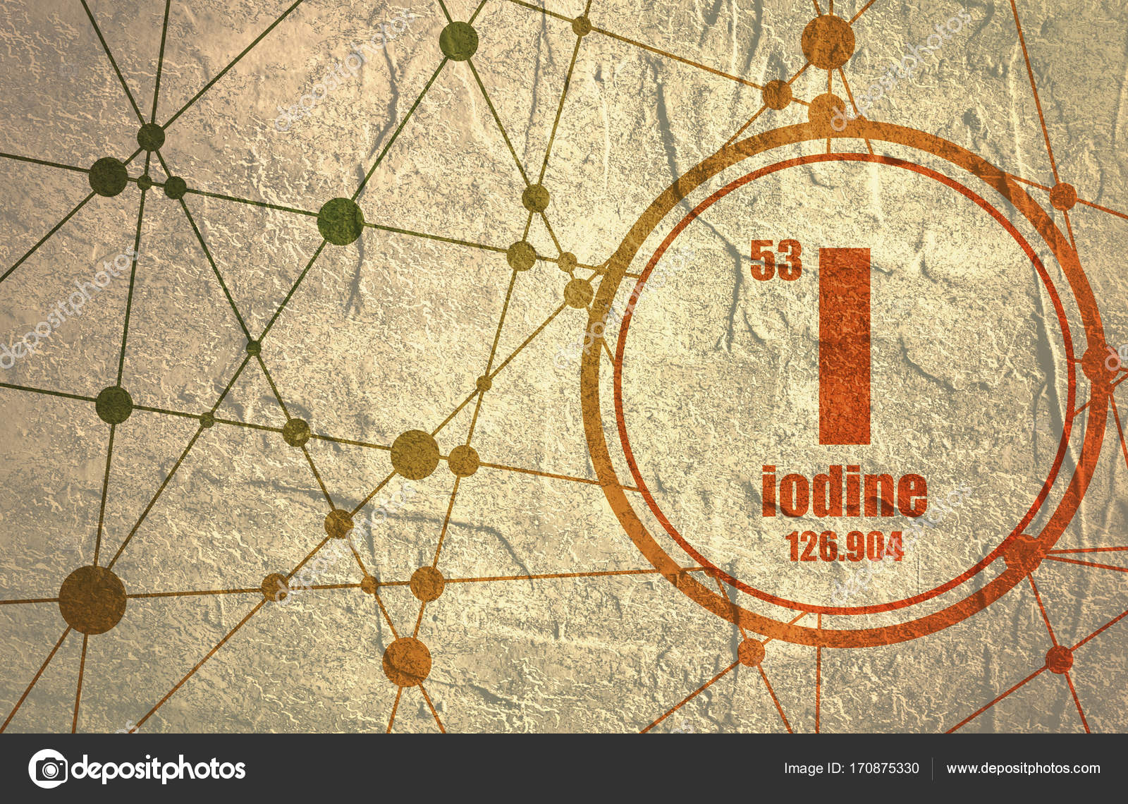 Iodine Chemical Element Stock Photo Jegasra 170875330
