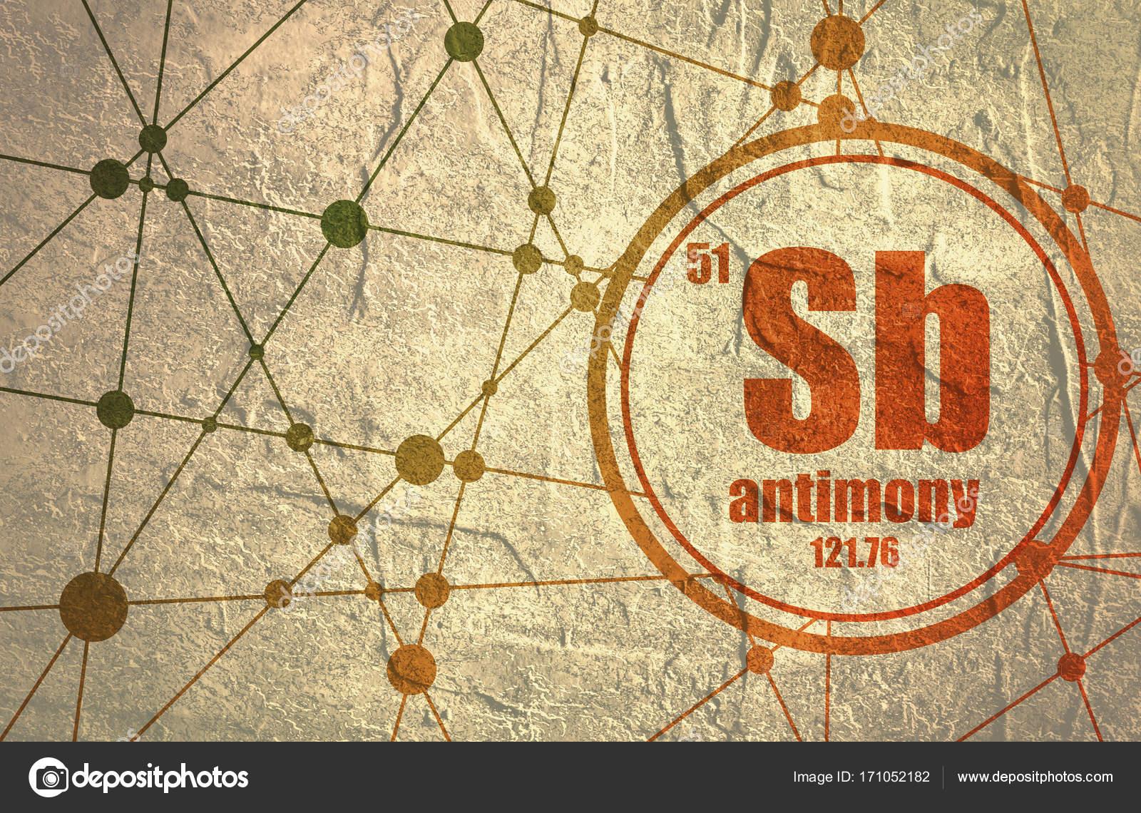 Antimony Chemical Element Stock Photo Jegasra 171052182