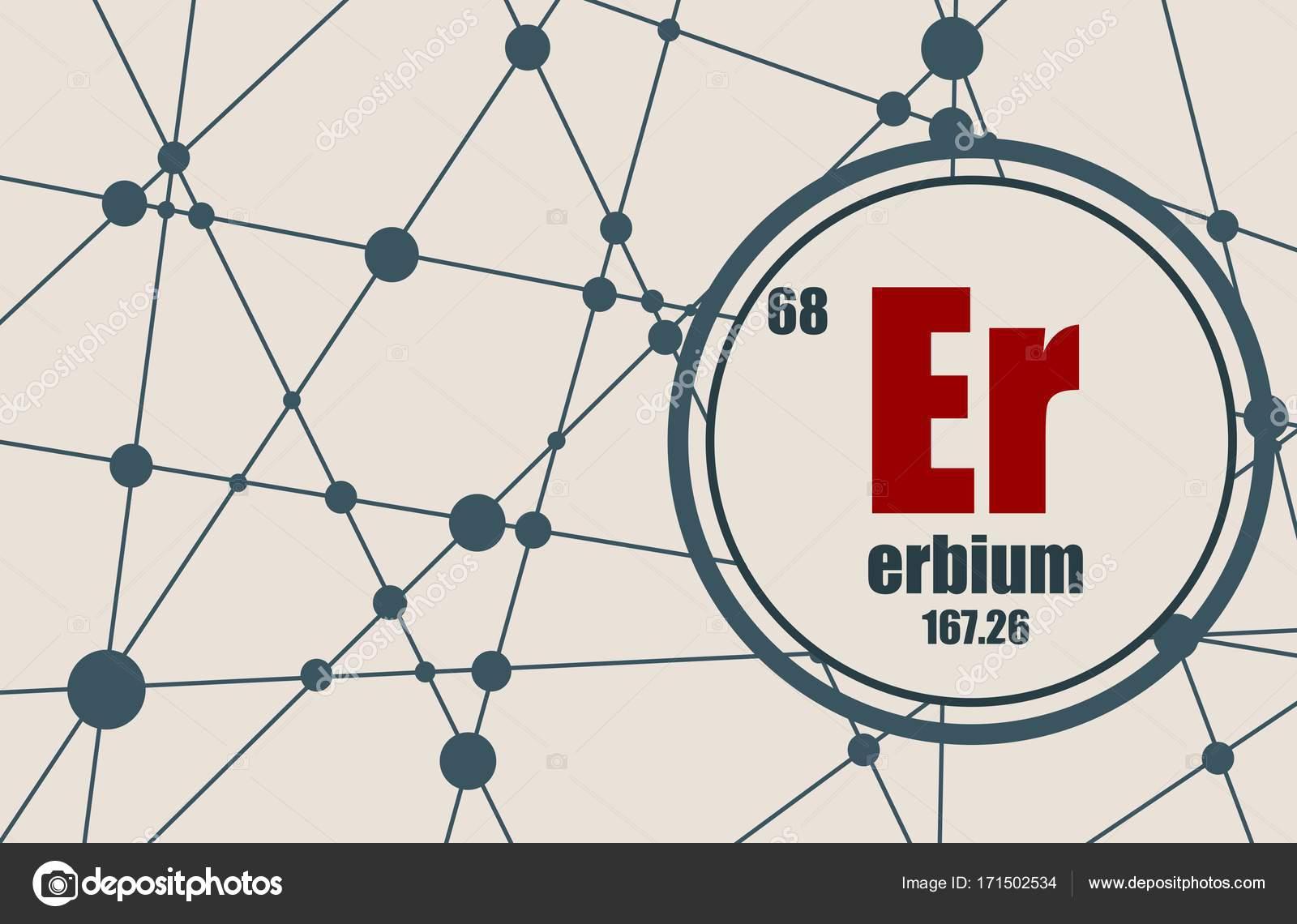 Erbium Chemical Element Stock Vector Jegasra 171502534