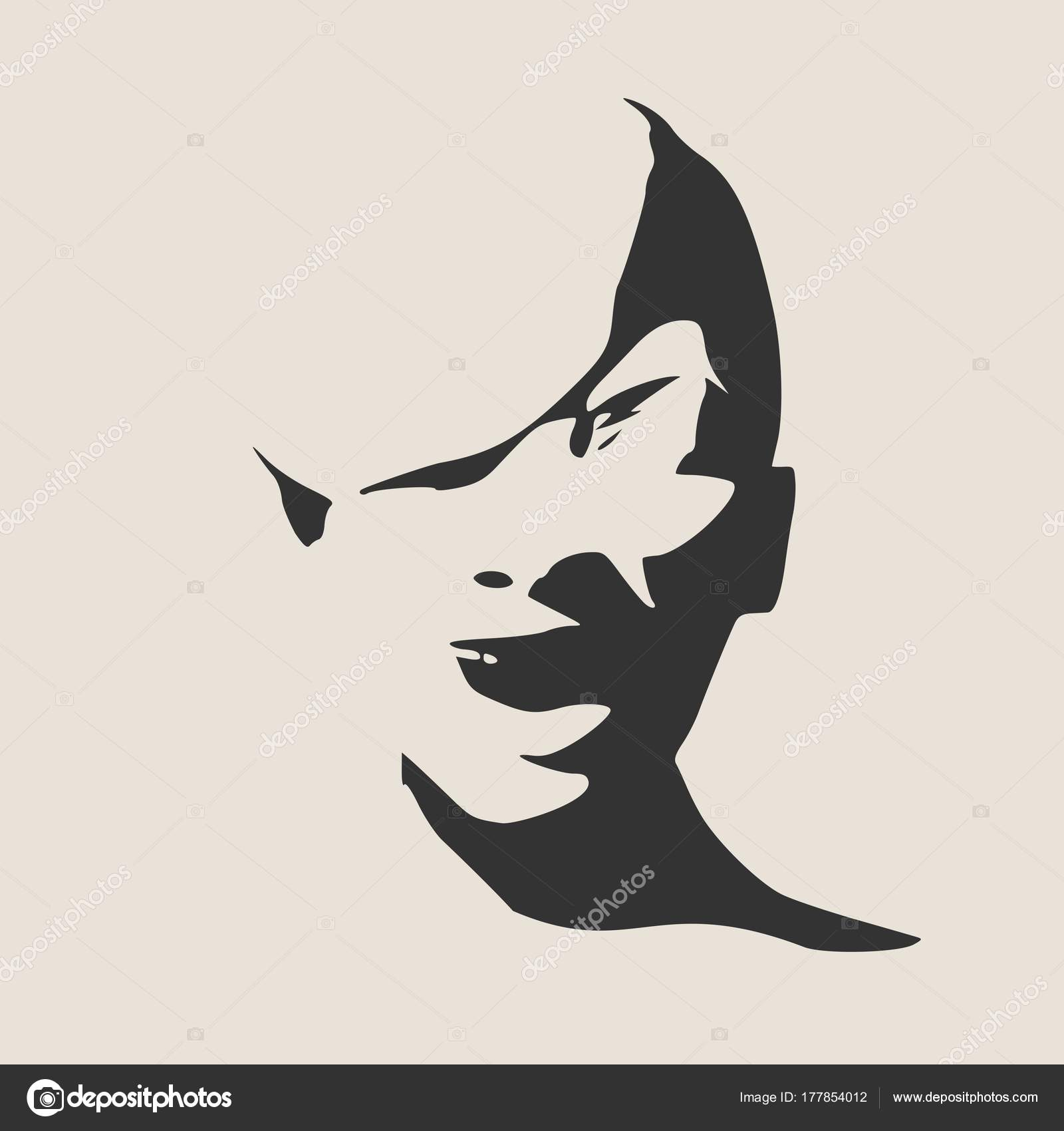 silhouette of a female head stock vector jegas ra 177854012