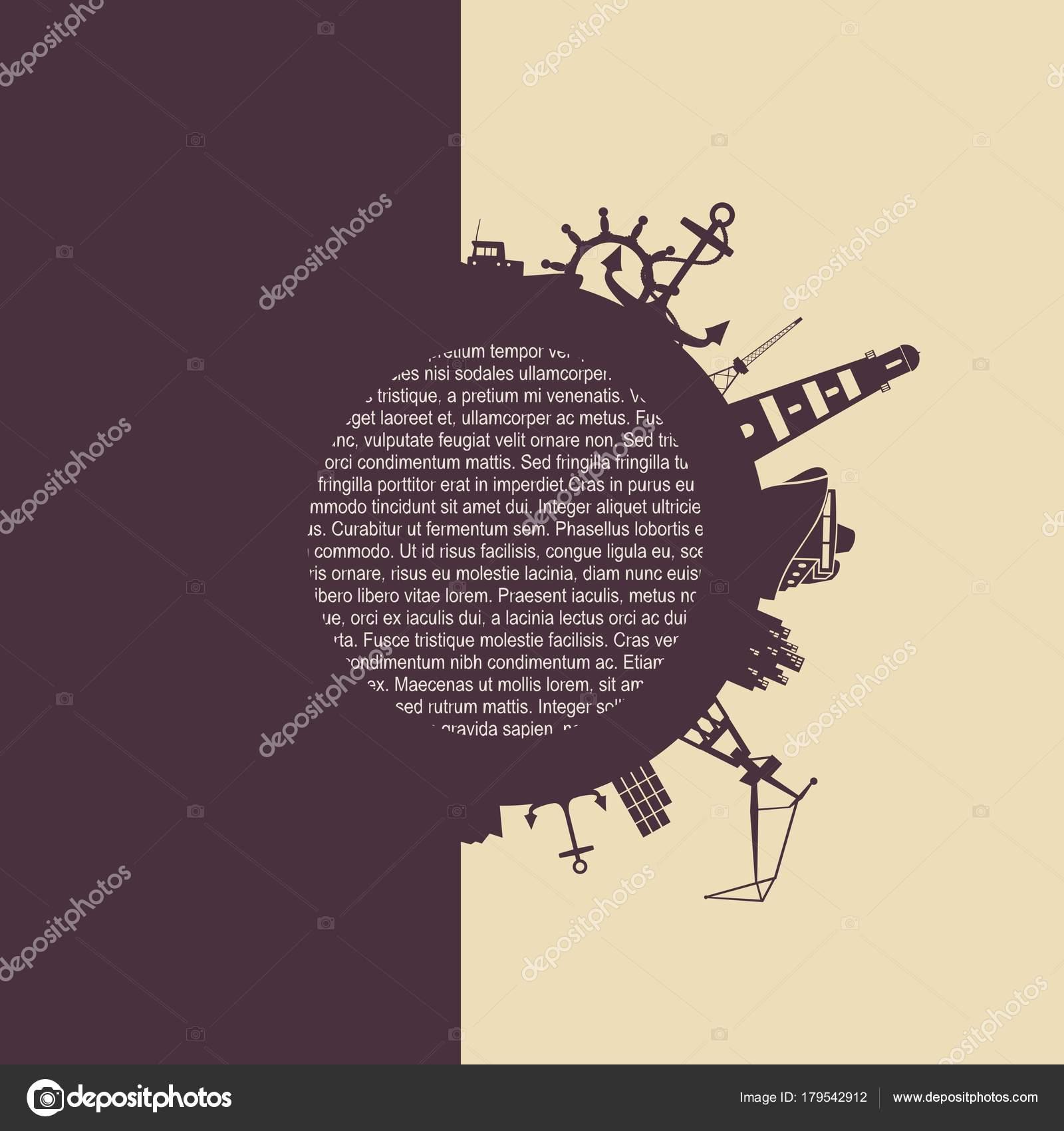Círculo con puerto de carga y recorrido relativos siluetas — Archivo ...