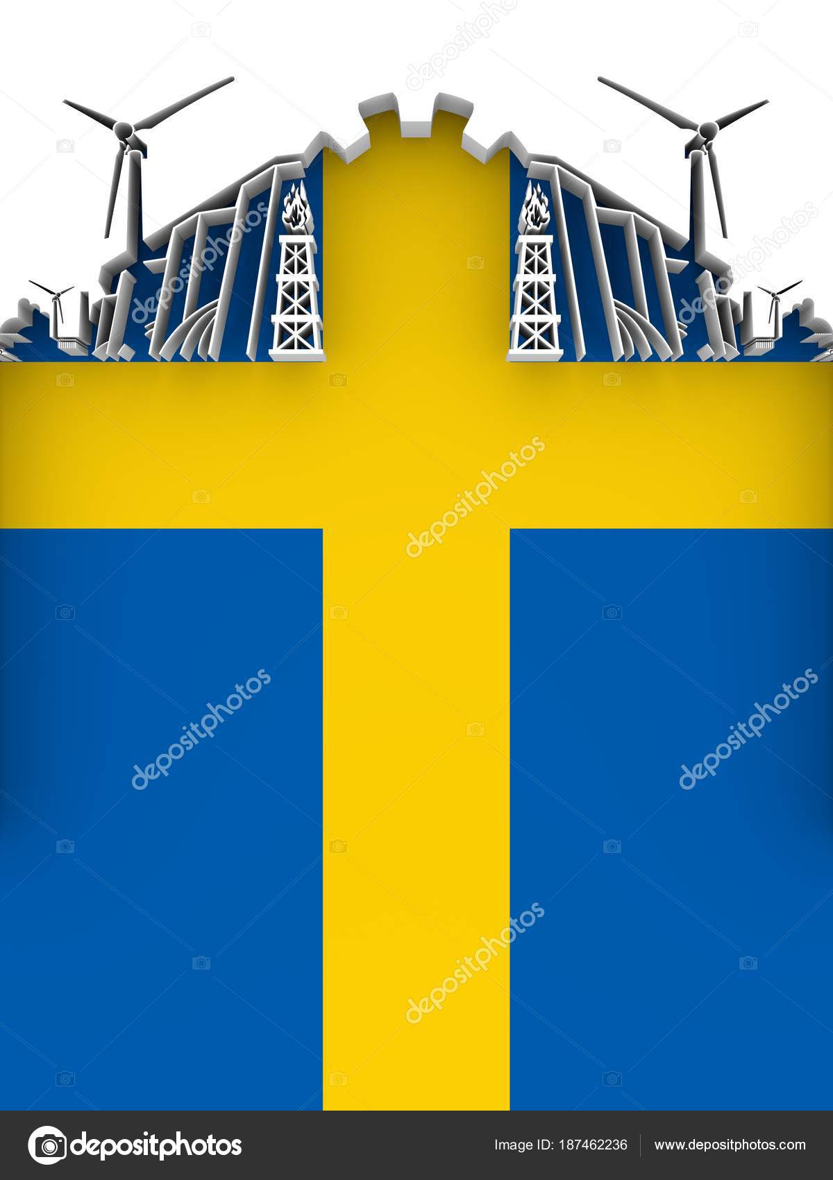 Energy and power stock photo jegasra 187462236 energy and power cutout silhouette sustainable energy generation and heavy industry flag of the sweden 3d illustration photo by jegasra biocorpaavc Gallery