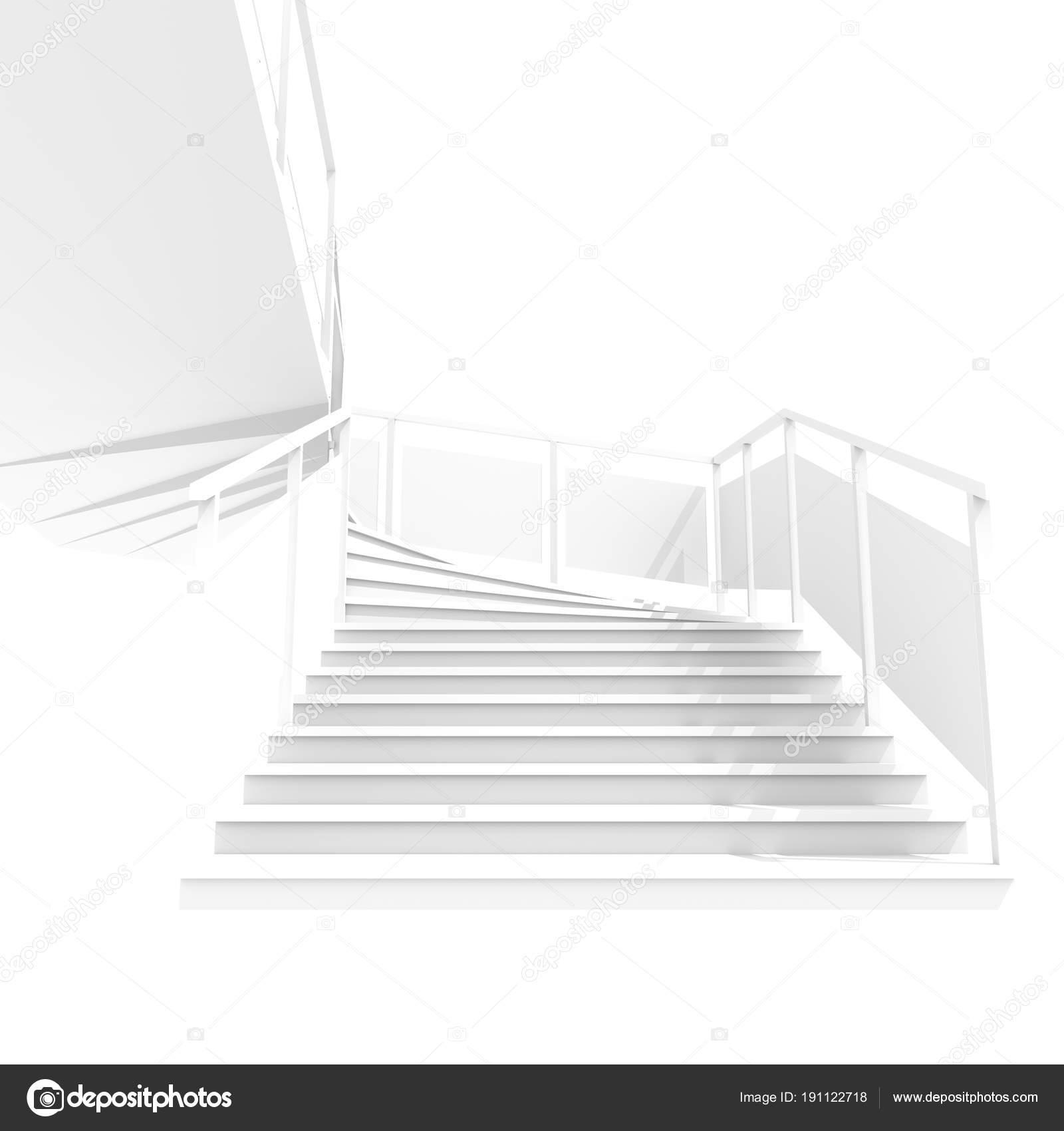 Weisse treppe for Architektenhauser galerie