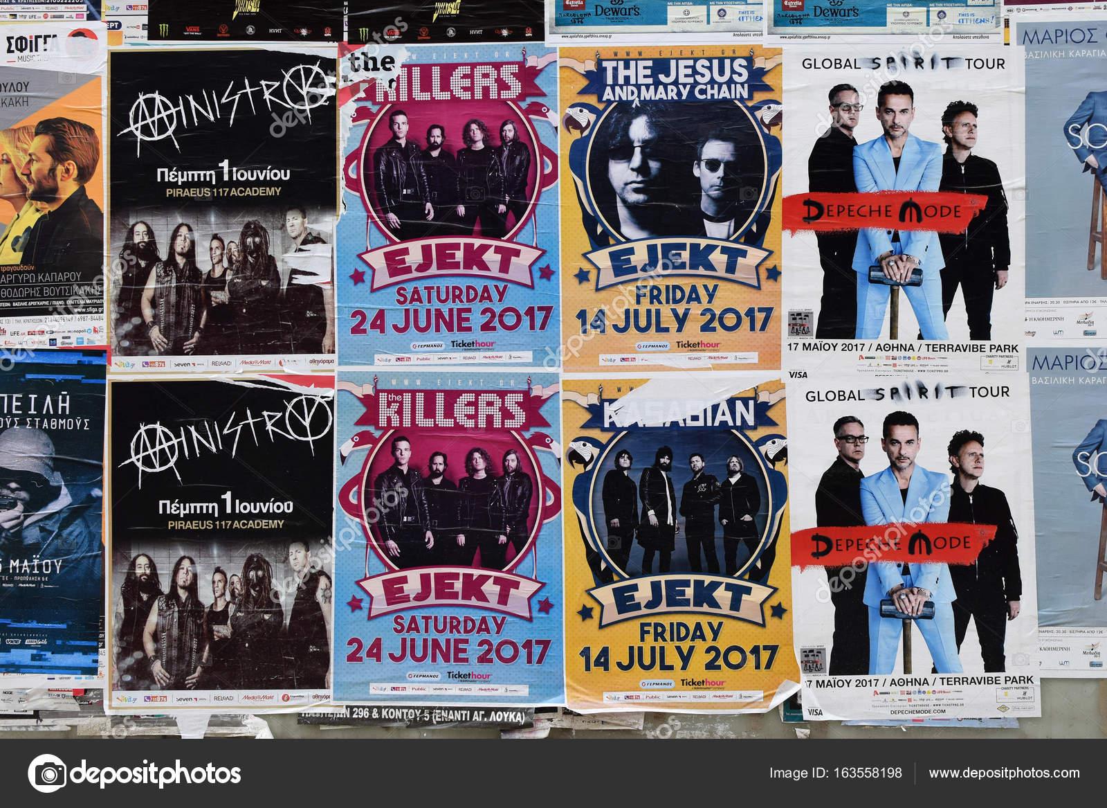 Concert Posters Pop Rock Music Stock Editorial Photo C Sirylok