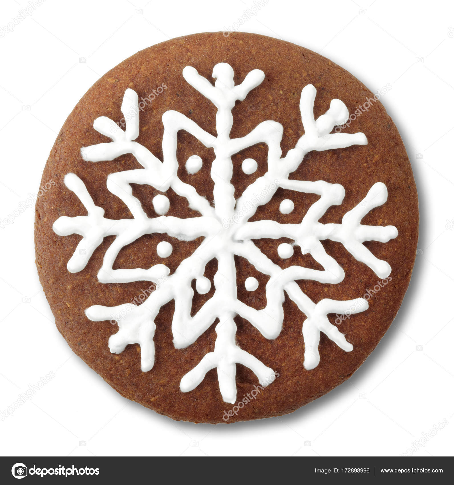 Round Christmas Gingerbread Cookie Stock Photo C Baibaz 172898996