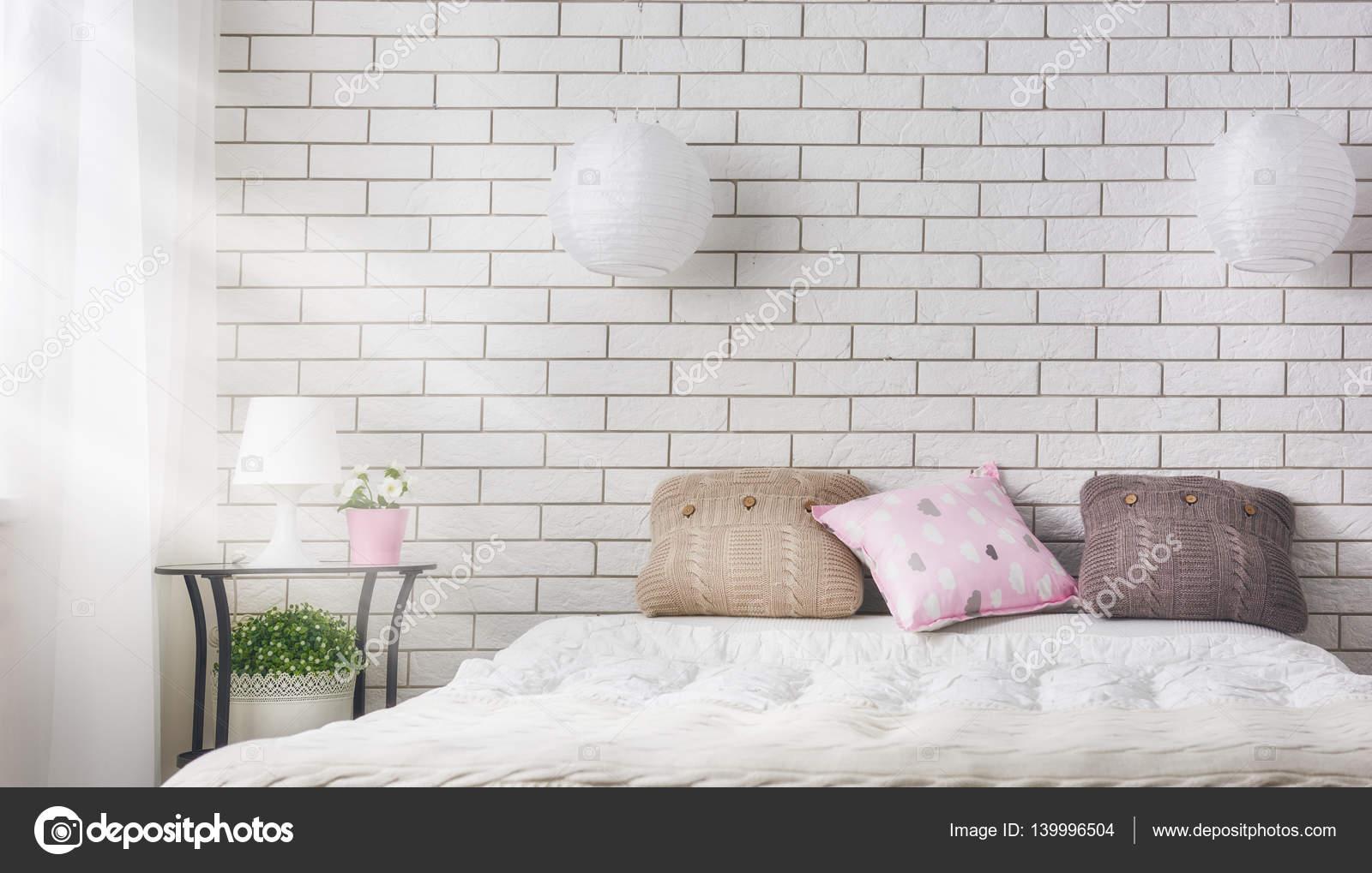 52e9c10c5fb υπνοδωμάτιο σε απαλά ανοιχτά χρώματα — Φωτογραφία Αρχείου ...