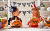 Fotografie Kinder an halloween