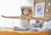 Fotografie Dívka v kroji astronaut
