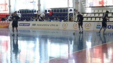 During a game of Futsal