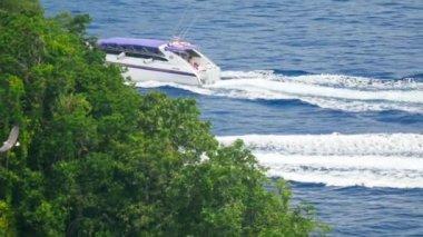 Speedboats approaches the beach Similan Islands