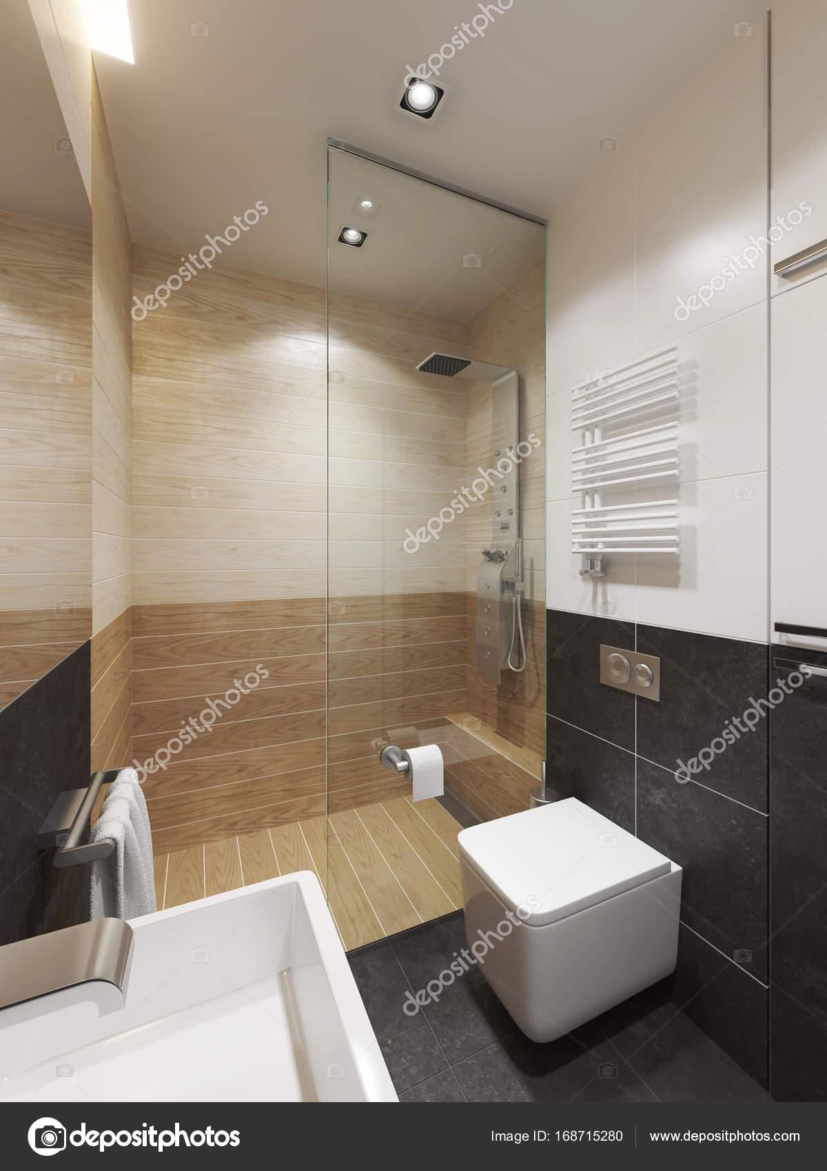 Interno del bagno moderno rendering 3d foto stock for Interno moderno