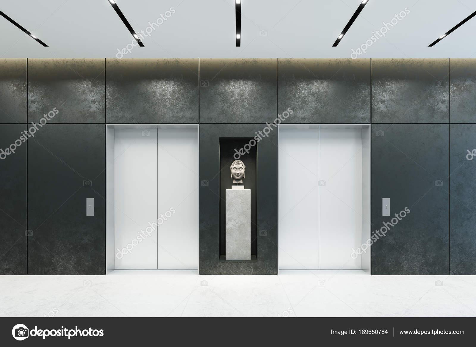 Porta Ingresso Ufficio : Moderno ascensore con porte chiuse nellingresso dellufficio u2014 foto
