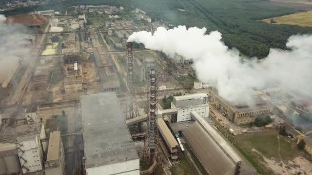 Zásobníku factory kouře - ropné rafinérie, petrochemie nebo chemička