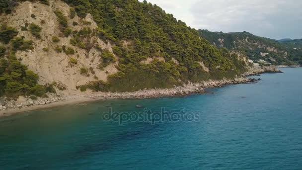 Überflug der Küste auf der griechischen Insel Korfu