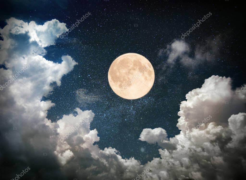 moon in dark sky