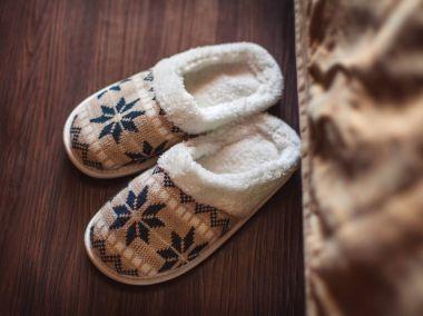 Slippers on floor