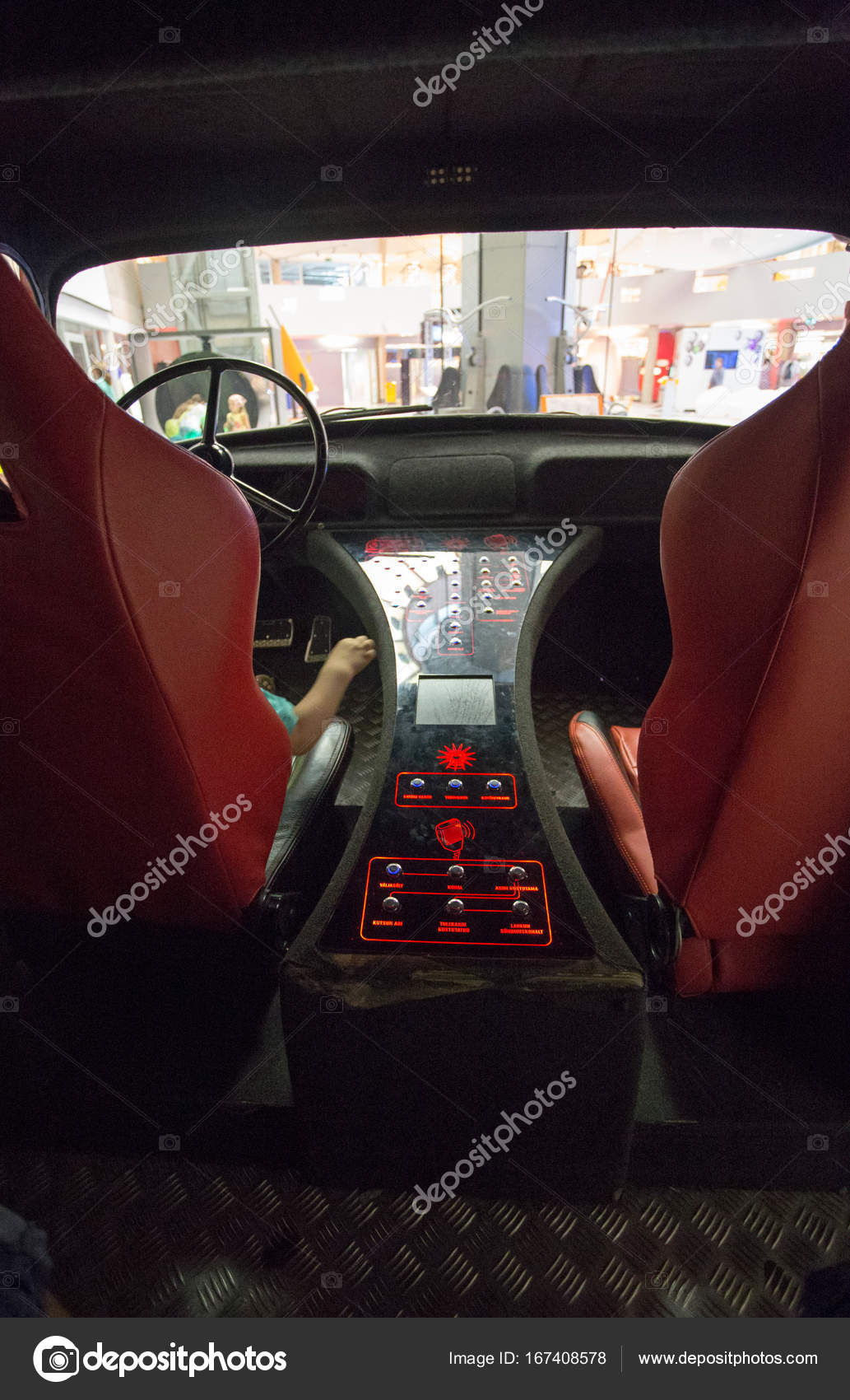 Firetruck Interior With Red Buttons Stock Photo C Trancedrumer 167408578