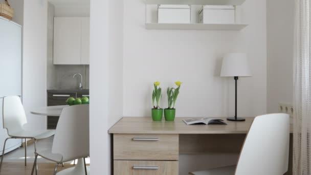 Moderne Dachwohnung Skandinavischen Stil | 4 K Innere Moderne Wohnung Im Skandinavischen Stil Mit Kuche Und