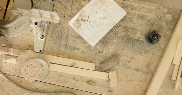 Workbench in the carpentry workshop