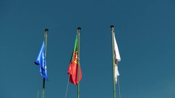 Portugál (Bandeira de Portugal) zászló a nemzeti zászló, a Portugál Köztársaság és az európai uniós zászlót.