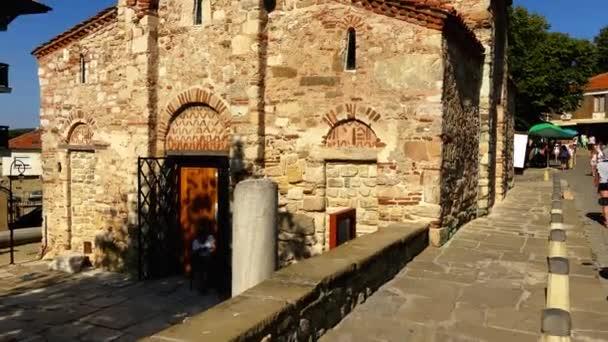NESSEBAR, BULGARIA - JULY 26 2016: Church of Christ Pantocrator is medieval Eastern Orthodox church in eastern Bulgarian town of Nesebar (Mesembria), on Black Sea coast of Burgas Province.