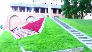 Smolensk Kremlin is fortress, enclosing center of city of Smolensk in western Russia. Partially preserved fortress wall was built between 1595 and 1602 (Tsars Fyodor I Ioannovich and Boris Godunov).