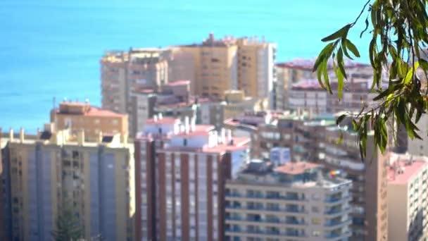 Panorama La Malagueta, port a střední části Malagy. Malaga je obec v provincii Andalusie, Španělsko. Nejjižnější velké město v Evropě, leží na pobřeží Costa del Sol Středozemní moře