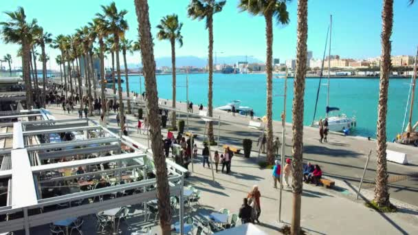 Embankment in Malaga. Malaga is municipality in Autonomous Community of Andalusia, Spain. Southernmost large city in Europe, it lies on Costa del Sol of the Mediterranean.