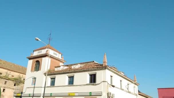 Sárga turista út jel-a rendőrség a Avenida Campo Madre de Dios Főigazgatóságot. Cordoba városa, Andalúzia, Dél-Spanyolországban és Cordoba tartomány fővárosa.