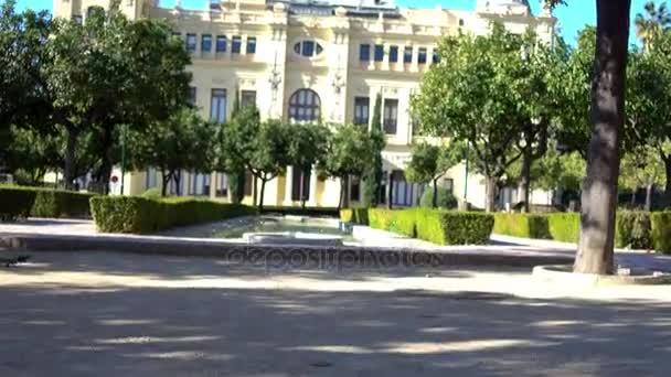 Gardens of Pedro Luis Alonso are in city of Malaga, Spain, architect Fernando Guerrero-Strachan Rosado, drawn in 1945. It is located next to Town Hall, between Puerta Oscura Gardens and Malaga Park.