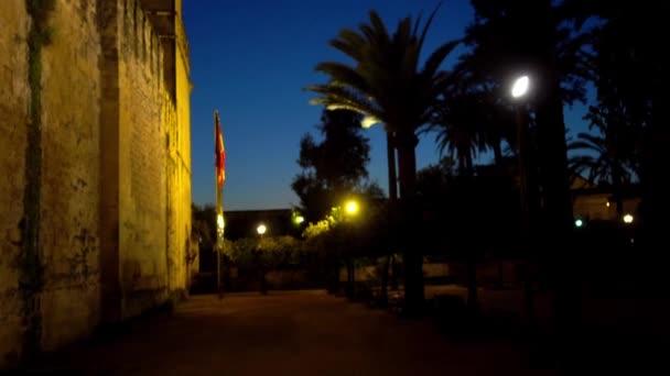 Alcazar de los Reyes Cristianos (Castle of Christian Monarchs), also known as Alcazar of Cordoba, Andalusia, Spain, next to Guadalquivir River and near Grand Mosque.
