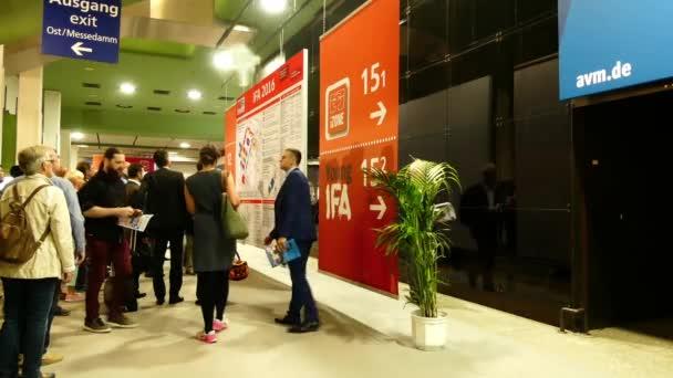 IFA, BERLIN - SEPTEMBER 5 2016: Entrance to International radio exhibition Berlin, Germany.