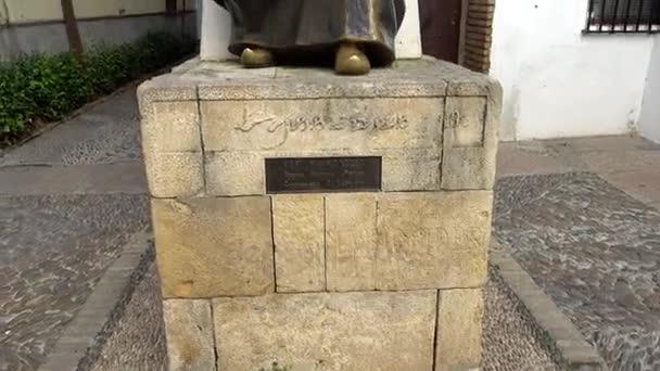 Emlékmű a Rabbi Mózes ben Maimon általánosan ismert, mint Maimonides, Córdoba, Andalúzia, Spanyolország