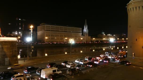 Sophia embankment on bank of Moskva River opposite Moscow Kremlin, Russian Federation.