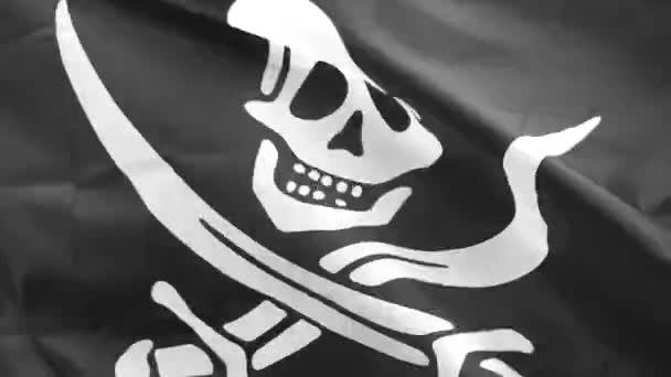 Jolly Roger è il nome tradizionale inglese per bandiere volato per identificare la nave pirata per attaccare. Teschio e ossa incrociate simbolo sulla bandiera nera, è stato utilizzato durante la 1710s di capitani pirata