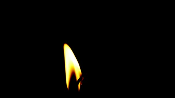 hořící svíčka na černém pozadí